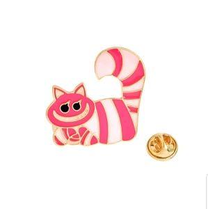 Jewelry - {5/$25} Cheshire Cat enamel pin